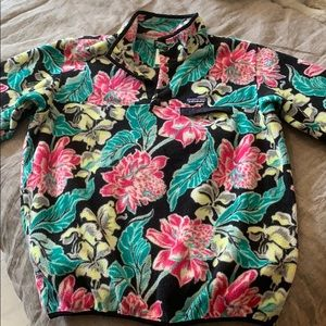 Patagonia Snap T Floral Pullover sz XL